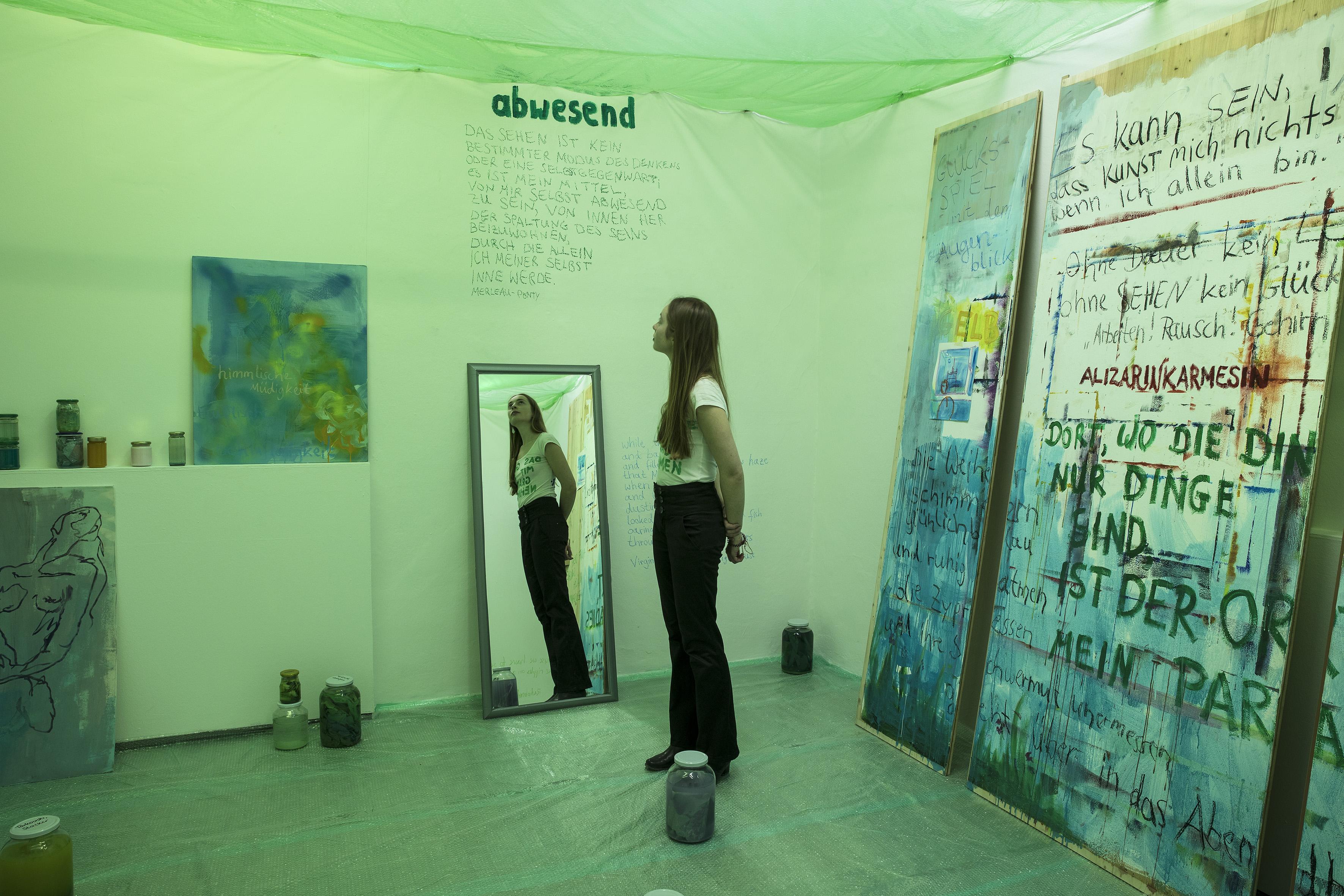 Klose Fenster im grünen kabinett koje klose
